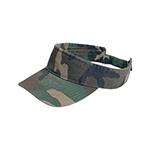 Pro Style Washed Camouflage Visor