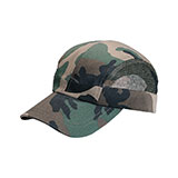 Camouflage Twill & Mesh Washed Cap