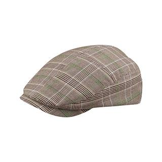 2136-Fashion Plaid Ivy Cap