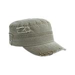 Enzyme Washed Herringbone Cotton Twill Army Cap