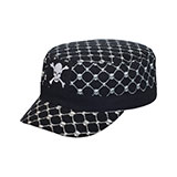 Fitted Army Cap W/Skull Print