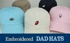 Embroidery Dad Hats