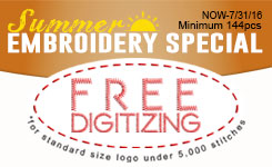 2016 Summer Embroidery Special
